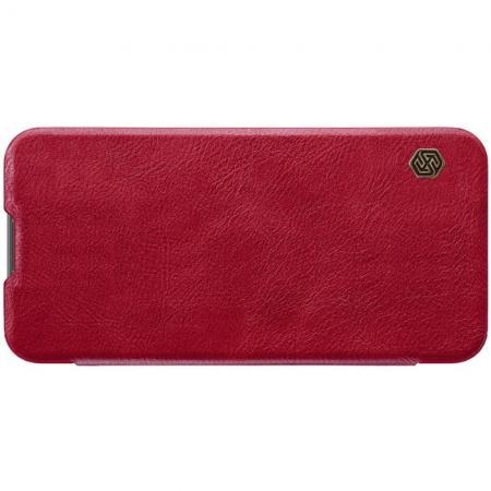 Тонкий Флип NILLKIN Qin Чехол Книжка для Huawei Honor 10 Lite Красный