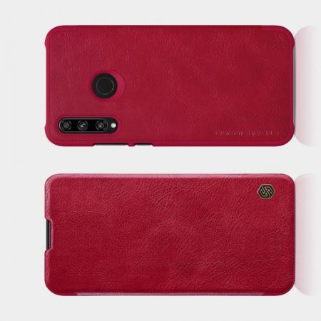Тонкий Флип NILLKIN Qin Чехол Книжка для Huawei Honor 10i Красный
