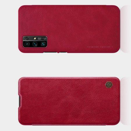 Тонкий Флип NILLKIN Qin Чехол Книжка для Huawei Honor 30 Красный