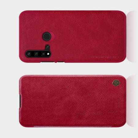 Тонкий Флип NILLKIN Qin Чехол Книжка для Huawei nova 5i / P20 lite 2019 Красный