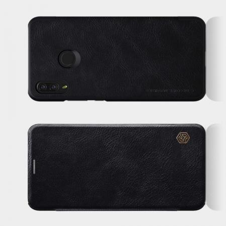 Тонкий Флип NILLKIN Qin Чехол Книжка для Huawei P smart+ / Nova 3i Черный