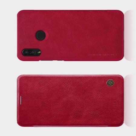 Тонкий Флип NILLKIN Qin Чехол Книжка для Huawei P smart+ / Nova 3i Красный