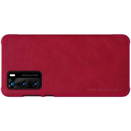 Тонкий Флип NILLKIN Qin Чехол Книжка для Huawei P40 Красный