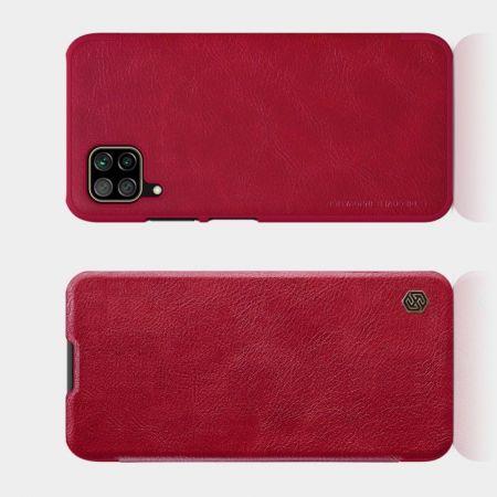 Тонкий Флип NILLKIN Qin Чехол Книжка для Huawei P40 Lite Красный