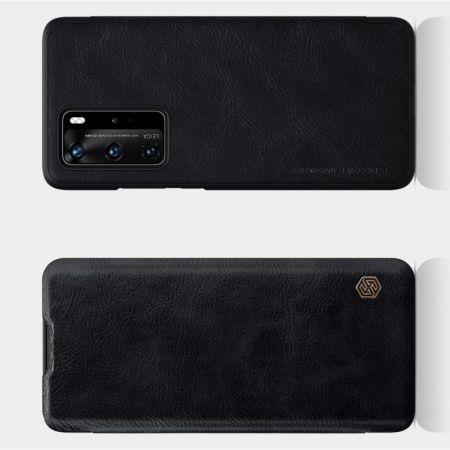 Тонкий Флип NILLKIN Qin Чехол Книжка для Huawei P40 Pro Черный