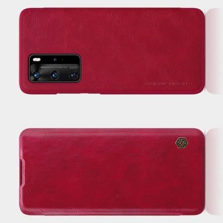 Тонкий Флип NILLKIN Qin Чехол Книжка для Huawei P40 Pro Красный