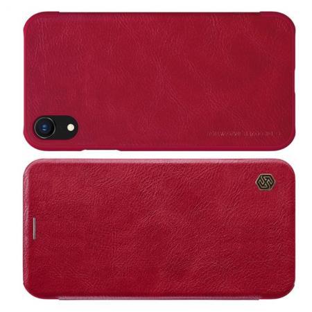 Тонкий Флип NILLKIN Qin Чехол Книжка для iPhone XR Красный