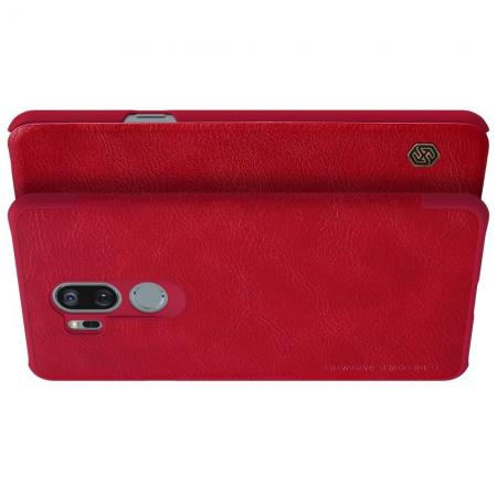 Тонкий Флип NILLKIN Qin Чехол Книжка для LG G7 ThinQ Красный
