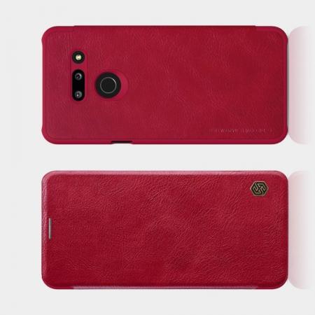 Тонкий Флип NILLKIN Qin Чехол Книжка для LG G8 ThinQ Красный