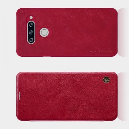 Тонкий Флип NILLKIN Qin Чехол Книжка для LG V40 ThinQ Красный