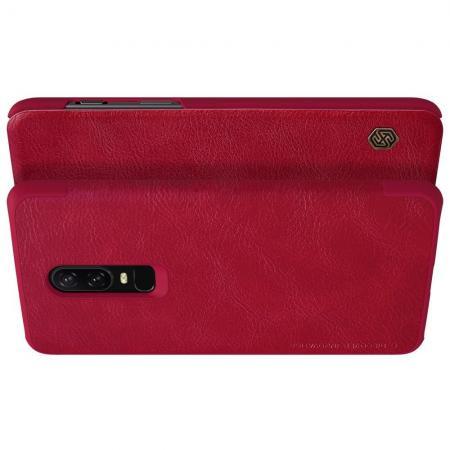 Тонкий Флип NILLKIN Qin Чехол Книжка для OnePlus 6 Красный