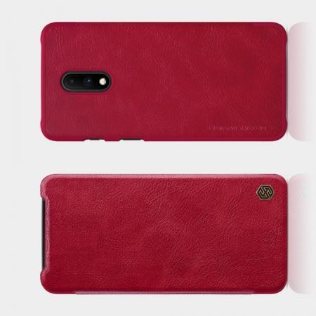 Тонкий Флип NILLKIN Qin Чехол Книжка для OnePlus 7 Красный