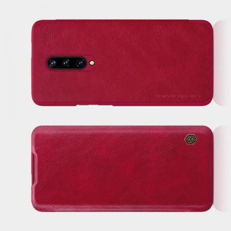 Тонкий Флип NILLKIN Qin Чехол Книжка для OnePlus 7 Pro Красный