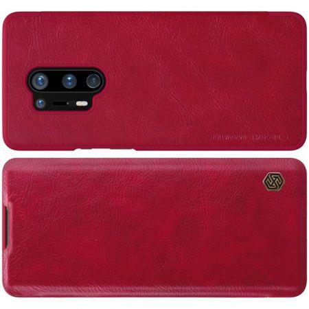 Тонкий Флип NILLKIN Qin Чехол Книжка для OnePlus 8 Pro Красный