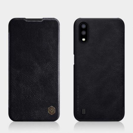 Тонкий Флип NILLKIN Qin Чехол Книжка для Samsung Galaxy A01 Черный