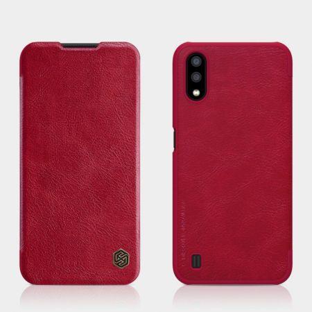 Тонкий Флип NILLKIN Qin Чехол Книжка для Samsung Galaxy A01 Красный