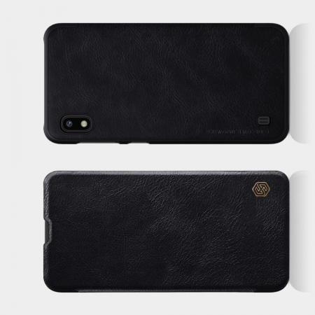 Тонкий Флип NILLKIN Qin Чехол Книжка для Samsung Galaxy A10 Черный