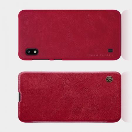 Тонкий Флип NILLKIN Qin Чехол Книжка для Samsung Galaxy A10 Красный