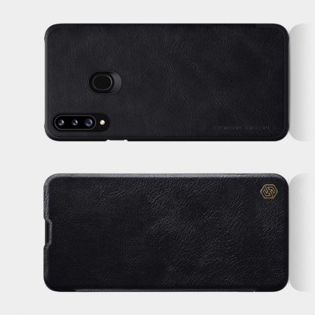 Тонкий Флип NILLKIN Qin Чехол Книжка для Samsung Galaxy A20s Черный