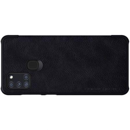 Тонкий Флип NILLKIN Qin Чехол Книжка для Samsung Galaxy A21s Черный