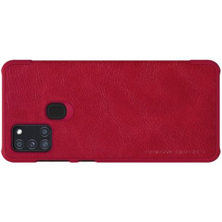 Тонкий Флип NILLKIN Qin Чехол Книжка для Samsung Galaxy A21s Красный