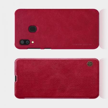 Тонкий Флип NILLKIN Qin Чехол Книжка для Samsung Galaxy A30 / A20 Красный