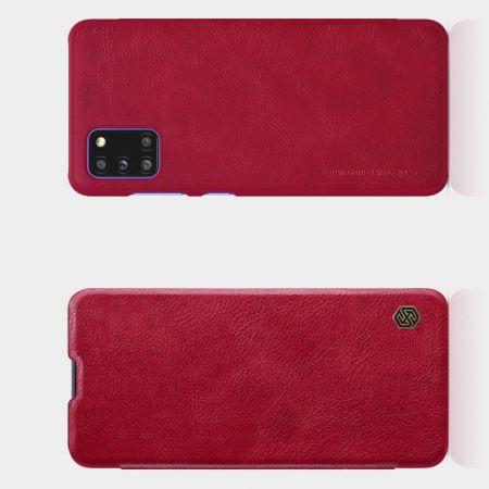 Тонкий Флип NILLKIN Qin Чехол Книжка для Samsung Galaxy A31 Красный