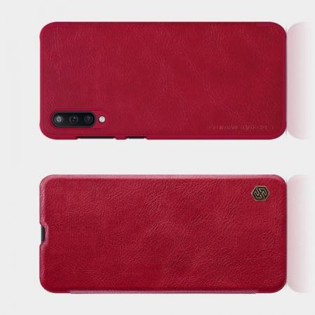 Тонкий Флип NILLKIN Qin Чехол Книжка для Samsung Galaxy A50 Красный