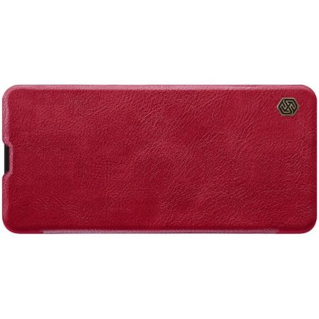 Тонкий Флип NILLKIN Qin Чехол Книжка для Samsung Galaxy A51 Красный