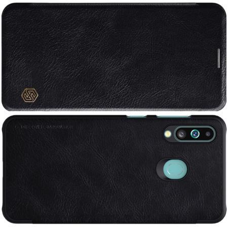 Тонкий Флип NILLKIN Qin Чехол Книжка для Samsung Galaxy A60 Черный