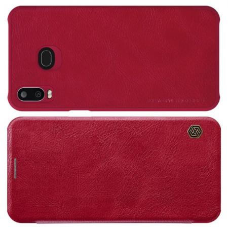 Тонкий Флип NILLKIN Qin Чехол Книжка для Samsung Galaxy A6s Красный