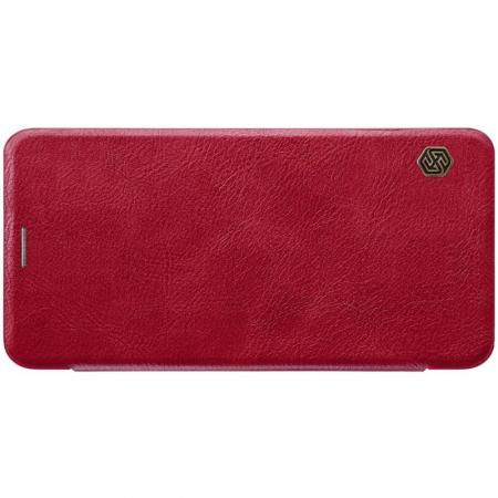 Тонкий Флип NILLKIN Qin Чехол Книжка для Samsung Galaxy A7 2018 SM-A750 Красный