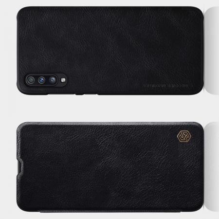 Тонкий Флип NILLKIN Qin Чехол Книжка для Samsung Galaxy A70 Черный