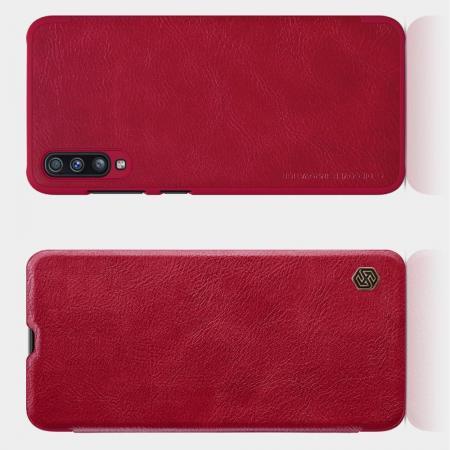 Тонкий Флип NILLKIN Qin Чехол Книжка для Samsung Galaxy A70 Красный