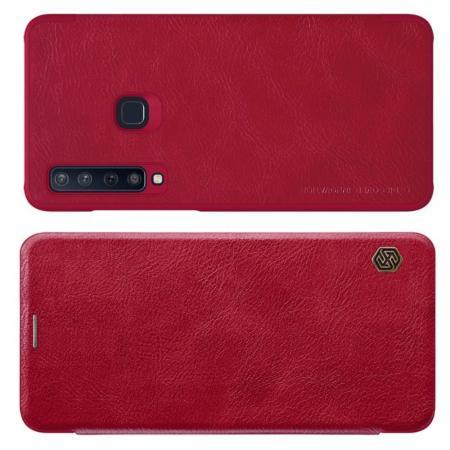 Тонкий Флип NILLKIN Qin Чехол Книжка для Samsung Galaxy A9 2018 SM-A920F Красный