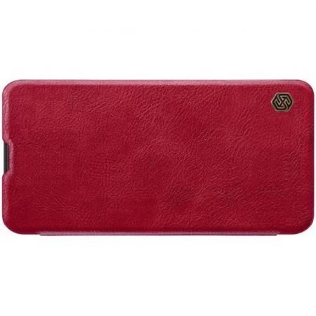 Тонкий Флип NILLKIN Qin Чехол Книжка для Samsung Galaxy M10 Красный