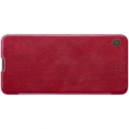 Тонкий Флип NILLKIN Qin Чехол Книжка для Samsung Galaxy M51 Красный