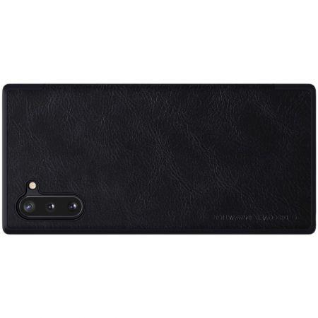 Тонкий Флип NILLKIN Qin Чехол Книжка для Samsung Galaxy Note 10 Черный
