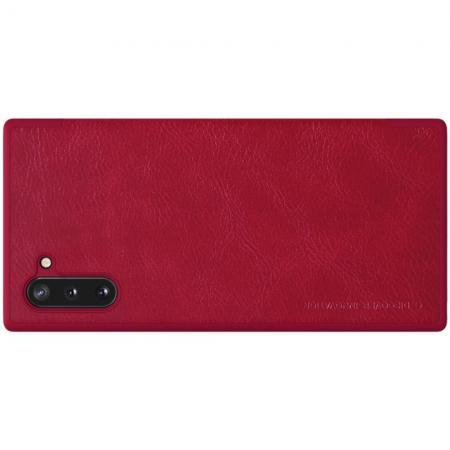Тонкий Флип NILLKIN Qin Чехол Книжка для Samsung Galaxy Note 10 Красный