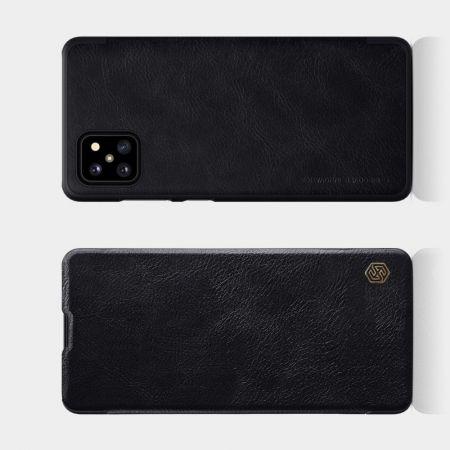 Тонкий Флип NILLKIN Qin Чехол Книжка для Samsung Galaxy Note 10 Lite Черный