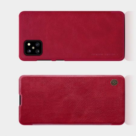 Тонкий Флип NILLKIN Qin Чехол Книжка для Samsung Galaxy Note 10 Lite Красный