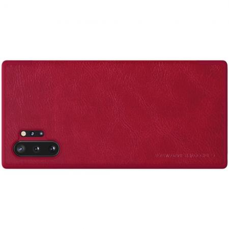 Тонкий Флип NILLKIN Qin Чехол Книжка для Samsung Galaxy Note 10 Plus Красный