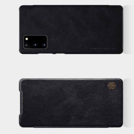 Тонкий Флип NILLKIN Qin Чехол Книжка для Samsung Galaxy Note 20 Черный