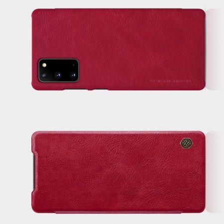Тонкий Флип NILLKIN Qin Чехол Книжка для Samsung Galaxy Note 20 Красный
