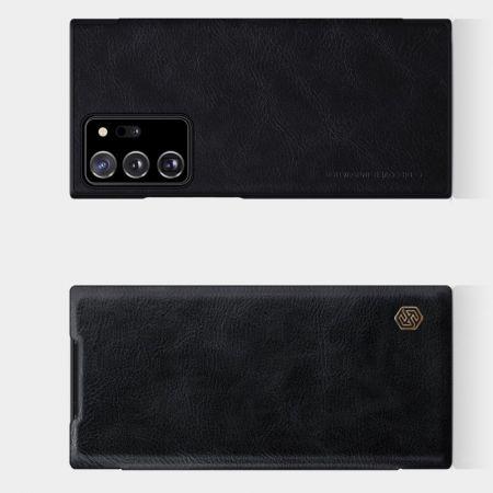 Тонкий Флип NILLKIN Qin Чехол Книжка для Samsung Galaxy Note 20 Ultra Черный