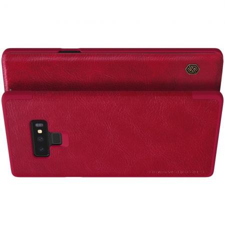 Тонкий Флип NILLKIN Qin Чехол Книжка для Samsung Galaxy Note 9 Красный