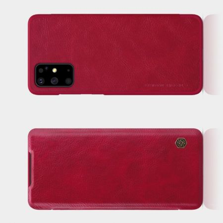 Тонкий Флип NILLKIN Qin Чехол Книжка для Samsung Galaxy S20 Plus Красный