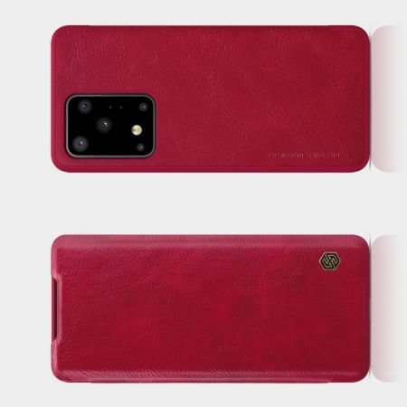 Тонкий Флип NILLKIN Qin Чехол Книжка для Samsung Galaxy S20 Ultra Красный