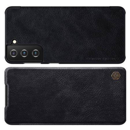 Тонкий Флип NILLKIN Qin Чехол Книжка для Samsung Galaxy S21 Черный