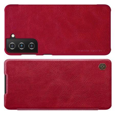 Тонкий Флип NILLKIN Qin Чехол Книжка для Samsung Galaxy S21 Красный